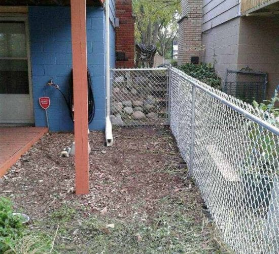4 Galvanized Chain Link Fence Corner