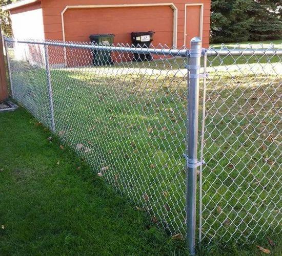 4 Galvanized Chain Link Fence Corner Post