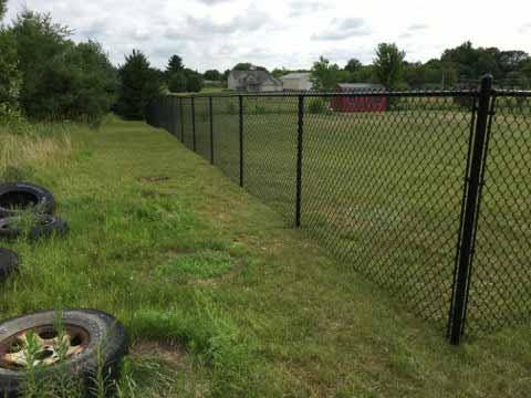 48 Black Chain Link Install Mn