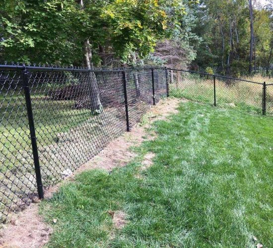 4 Black Chain Link Fence