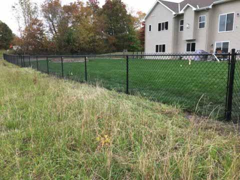 4 Black Chain Link Fence Minnesota