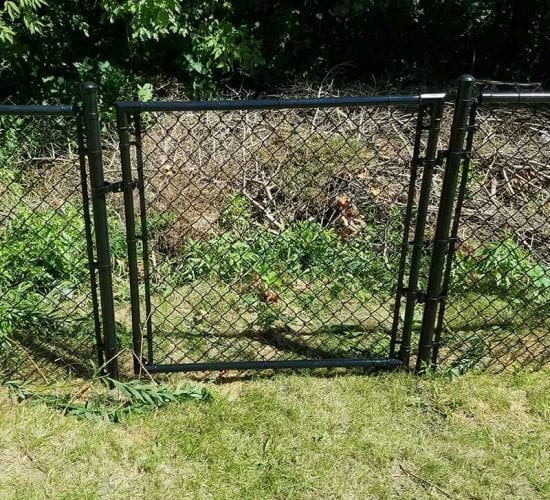 4 Black Chain Link Fence Walk Gate