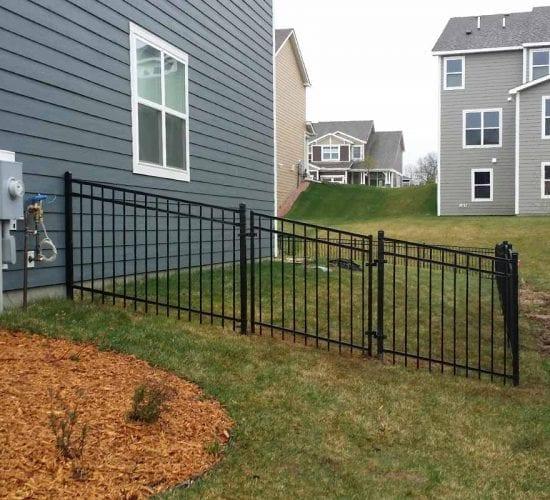 4 Custom Ornamental Wrought Iron Walk Gate On Sloped Yard