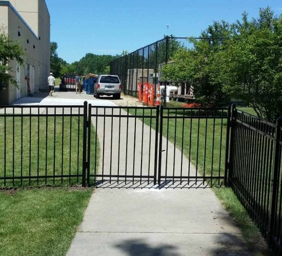 4 Custom Ornamental Wrought Iron Double Drive Gate