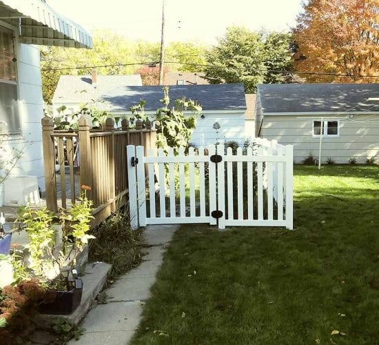 4 Dog Eared Vinyl Picket Fence Walk Gate