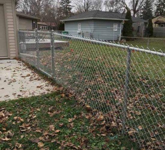 4 Galvanized Chain Link Fence Installation