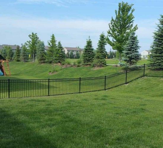 4 Ornamental Steel Fence On Slopped Yard