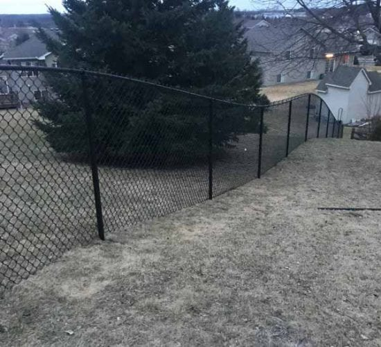 5 Black Chain Link Fence