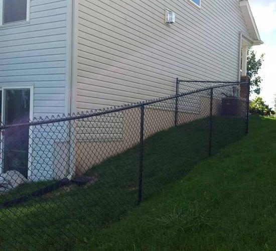 60 Black Chain Link Fence Install Minnesota