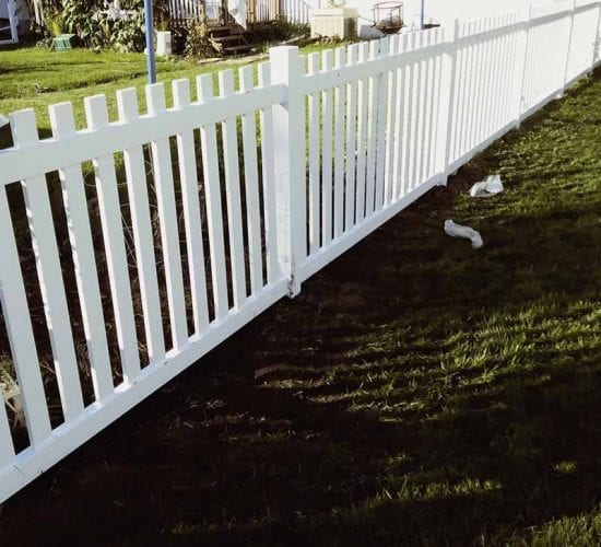 Dog Eared Vinyl Picket Fence