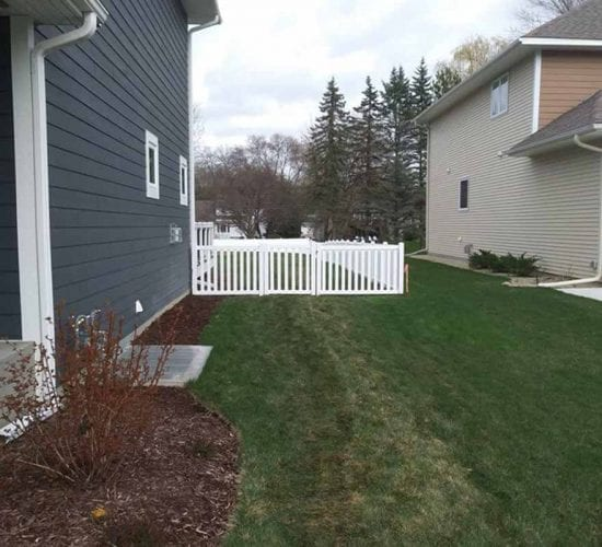 Walk Gate Regency White Vinyl Fence Installation