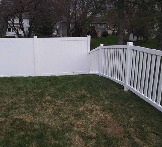 White Vinyl Picket And Privacy Combination