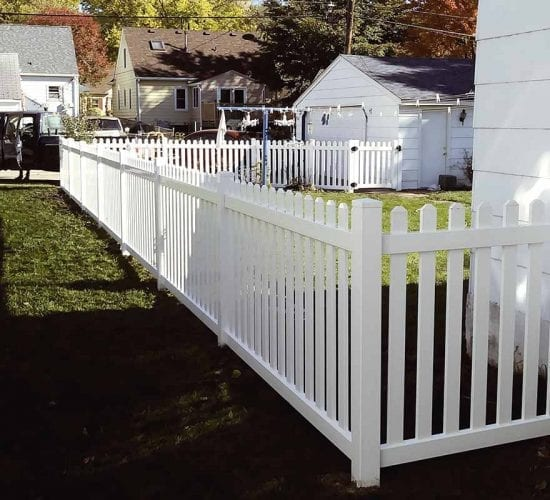 Dog Eared Vinyl Picket Fence Installs Mn