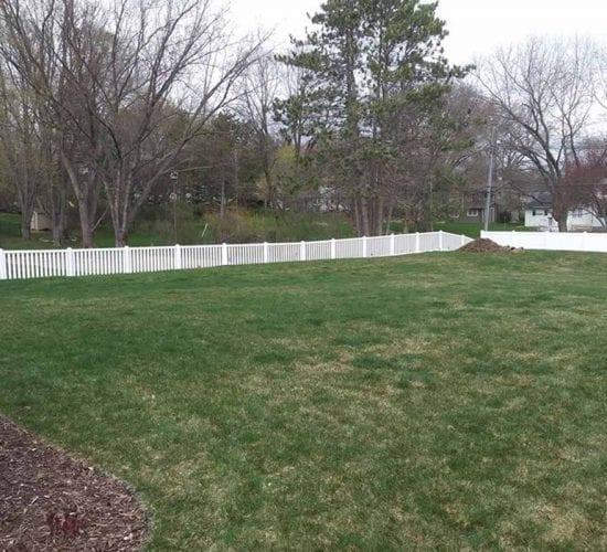 White Vinyl Picket Fence Minnesota Installation Company
