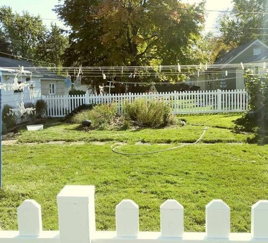 White Vinyl Picket Fence Installation
