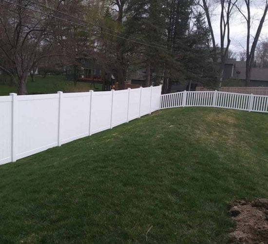 White Vinyl Privacy And Picket Fence
