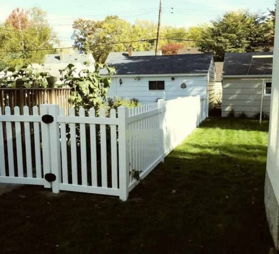 White Vinyl Walk Gate