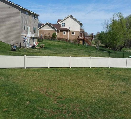 4 Tan Vinyl Privacy Fence Mn