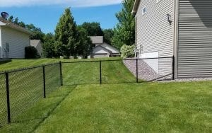 Black Chain Link Fence Installation Mn