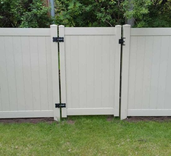 6 Tan Vinyl Privacy Fence Walk Gate