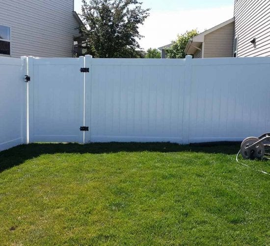 6 White Privacy Vinyl Fence Installation Mn