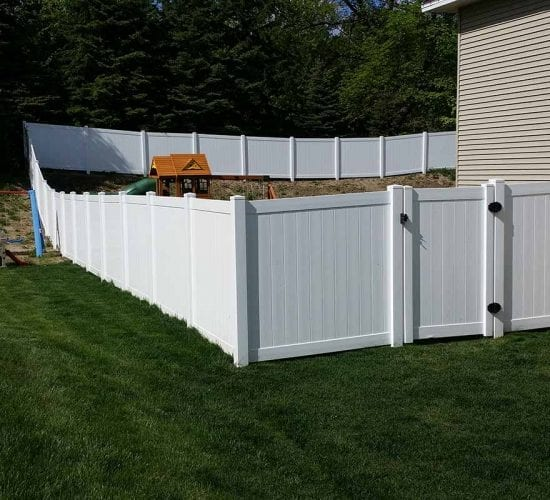 6 White Vinyl Fence Mn