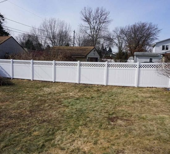 6 White Vinyl Lattice Fence