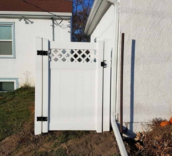 6 White Vinyl Lattice Walk Gate