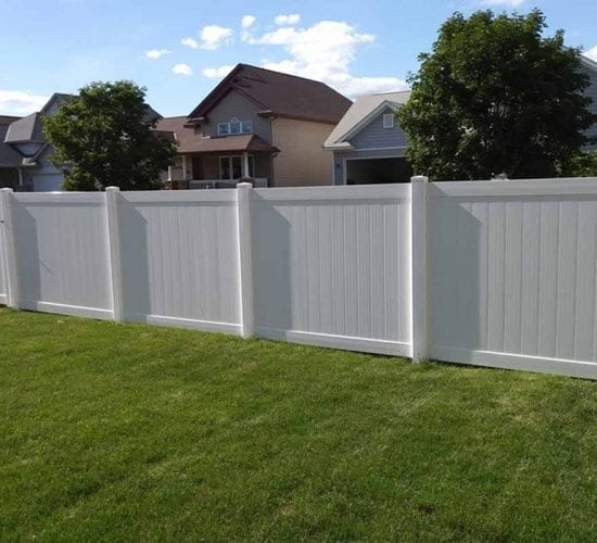 6 White Vinyl Privacy Fence