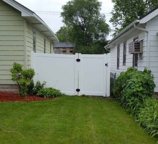 6 White Vinyl Privacy Fence Walk Gate