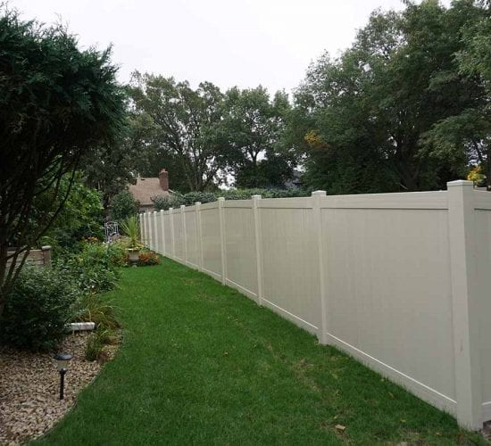 72 Tan Privacy Fencing Minnesota