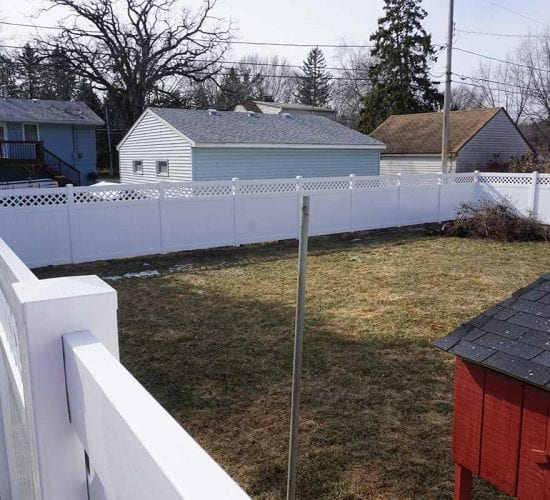 72 White Lattice Vinyl Fence Mn