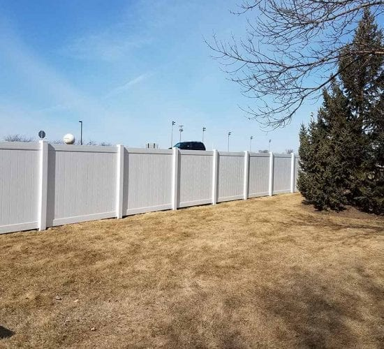 72 White Vinyl Privacy Fence Mn