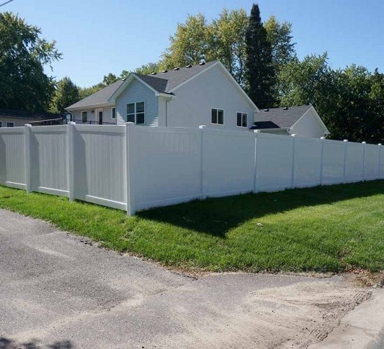 72 White Vinyl Privacy Fence Minnesota