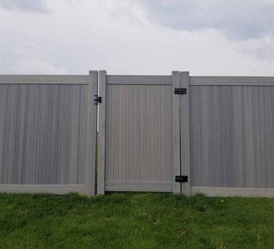 Grey Vinyl Privacy Fencing