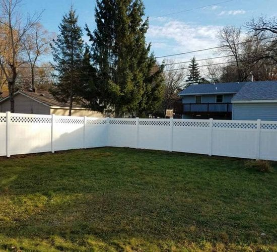 Lattice Vinyl Fence Installation