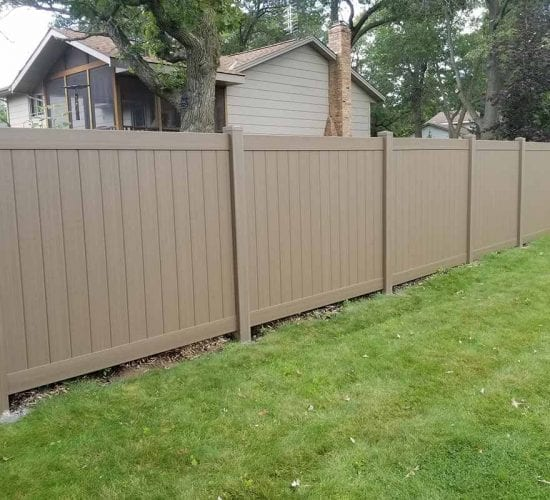 Wood Grain Vinyl Privacy Fencing